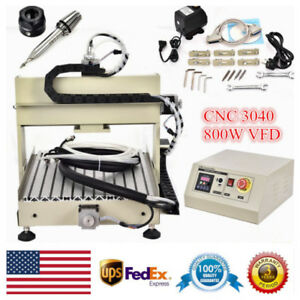Cnc 3040 Router Engraver Engraving Machine 4axis 3d Carving Drilling Milling Vfd