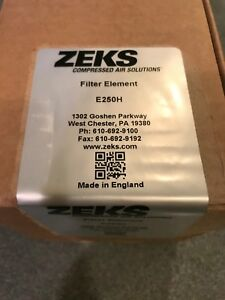 Zeks E250h Line Filter Element Replacement Kit Brand New In Box Oem
