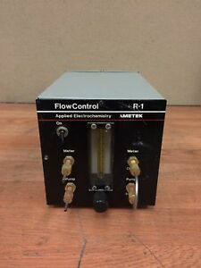 Ametek R 1 Flow Control For Oxygen Analyzer Applied Electrochemistry Working