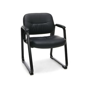 Essentials Leather Executive Side Chair Guest reception Chair With Sled Bas
