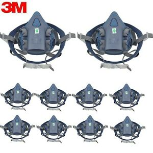 10pc 3m 7502 Half Face Facepiece Respirator Mask medium Painting Spraying Mask