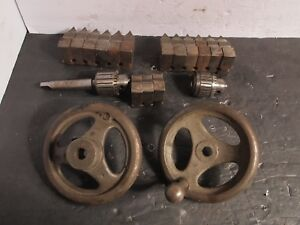 2 Sets Of 6 Chuck Jaws Jacobs 8 1 2 Drill Chuck Rockwell Handle Machinist Lathe