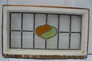 1 Art Deco Leaded Light Stained Glass Window Panel Above Door Size R631b