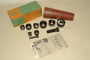 Vintage Greenlee No 735 Punch Die Knockout Set W leather Case box instruction