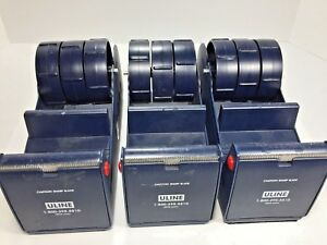 3 Uline Industrial Multi roll Tape Dispensers 3 Core Tape Lot Of 3 Dispensers
