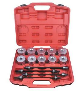 24pcs Pull And Press Sleeve Kit Bushes Bearings Installer Removal Tool Universal