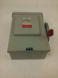 Westinghouse Rhfn321 Safety Switch 30a 240v 3p Fusible Type 3r Rainproof New