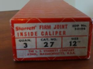Starrett 12 Inside Caliper 27 12 3 New In Box