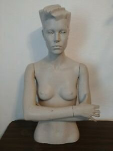 Vintage 80 s New Wave Greneker Mannequin Torso W Crossed Arms Stylized Abstract