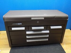 Kennedy Machinist Chest Tool Box 6 drawer 26 X 12 X 14 Steel Brown 266b