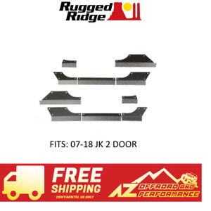 Rugged Ridge Steel Body Armor Cladding 07 18 Jeep Wrangler Jk 2 Door 11615 11
