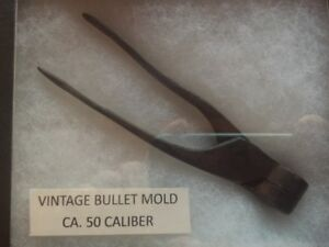 Vintage Bullet Mold for Ca. 50 Caliber Musket Ball. 19th Century Nice Condition