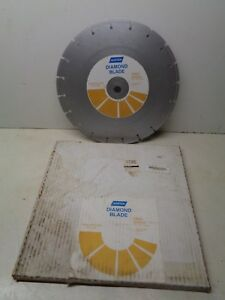Norton Diamond Blade 14 Dry High Speed Construction Cut Off New