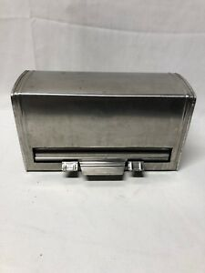 Table Top Halco 18 8 Stainless Steel Pencil Straw Dispenser Tested Working Japan