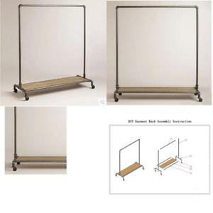 Wgx Design For You Industrial Pipe Clothing Rack Garment Rack Pipeline Vintage P