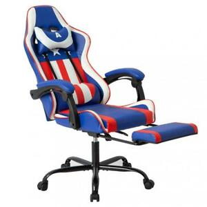 Gaming Office Racing Chair Desk Computer Ergonomic Swivel Chair W Back Support