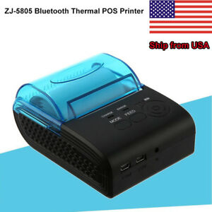 Portable 58mm Bluetooth Android 4 0 Thermal Pos Printer 90mm sec Us Plug Ustock