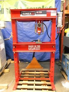 Sunex Hd 50 Ton Manual Hydraulic Shop Press 8 1 4 Stroke 5750
