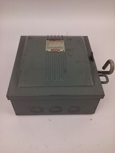 Westinghouse Cau 321 Safety Switch 30a 240v Std Hp 7 5 Ac 3p Type Nd New