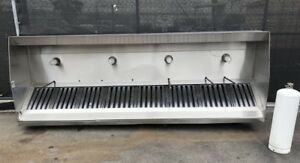 12 Type 1 Exhaust Hood Captive Aire Stainless Grease Vent Nsf 8813 144 X 48