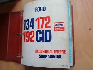 9 Older Ford Industrial Engine Shop Service Manuals In Binder 1970s Oem