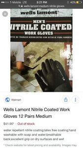 New 2 Boxes Of 12 Pairs Wells Lamont Medium Men s Nitrile Coated Work Gloves 24