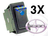 3x Scion Oem Led Rocker Switch Tc Xb Xa Blue