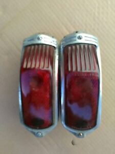 1941 Also 1939 1940 Cadillac Tail Lights Pair 39 40 41 Tailight Pr