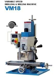 Mini Milling Drilling Machine Weiss Vm18l 500x140mm 20 x6 1hp Motor
