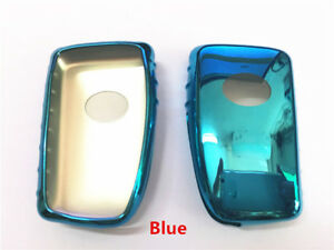 1pcs Blue Tpu Car Remote Key Cover Protective Case Trim Fit For Es Rx Nx Is Gs