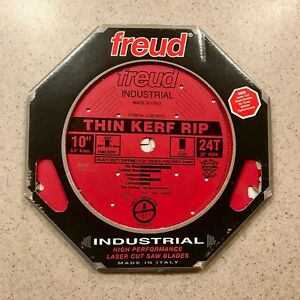 Freud 10 Inch Thin Kerf Rip Saw Blade 24t Heavy Duty Carbide 10 Lu87r010