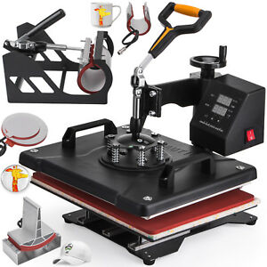 6in1 Digital T shirt Heat Press Machine Printing Steel Frame Hot Local Shipping