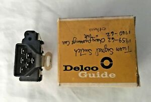 Vintage Turn Signal Switch 59 62 Chevy Delco Guide 3765110 Nos