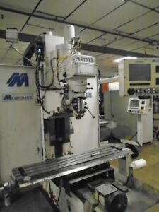 Milltronics Mb18 3 axis Cnc Vertical Bed Mill Milling Machine