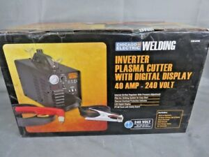 Chicago Electric Welding Inverter Plasma Cutter W digital Display 40a 240v Mse06