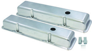 Sb Chevy Short Classic Polished Smooth Aluminum Valve Covers 55 86 283 327 350