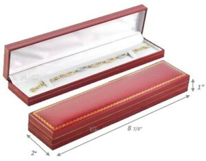 Lot Of 24 High Quality Watch Box Faux Leather Red Bracelet Box Jewelry Gift Box
