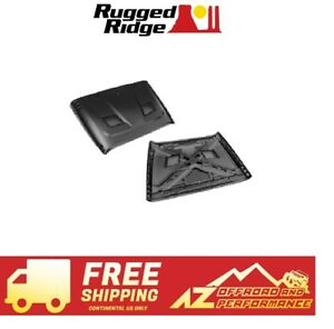 Rugged Ridge Performance Vented Hood 07 18 Jeep Wrangler Jk 17759 01 No Paint