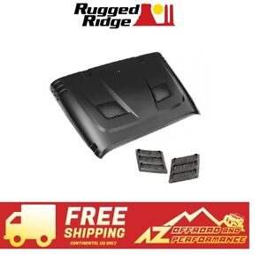 Rugged Ridge Performance Vented Hood Kit For 07 18 Jeep Wrangler Jk No Paint