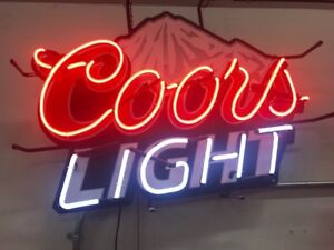 Neon Sign coors Light Beer 8823 Bar Tavern Man Cave Commercial Pub Display