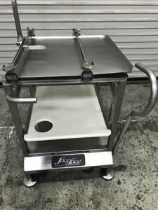 Meat Slicer Cart Stainless Nsf Face To Deli Buddy 8826 Commercial Food Prep