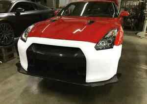 Walker Lb Lp Carbon Accent Front Bumper W Diffuser Lip Fit 08 14 Nissan R35 Gtr