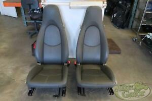2005 2012 Porsche Boxster 2 Front Bucket Seats Grey Leather