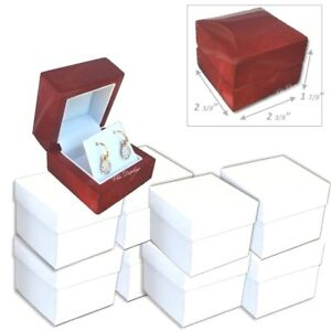 Lot Of 12 Quality Premium Earring Boxes Wood Earring Gift Boxes Wooden Box