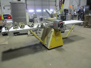 Rondo Sso 64c Production Reversible Sheeter Table Bakery W 4 Cutters Doughnut