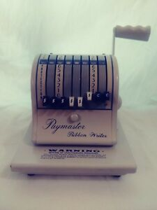 Vintage Collectible Paymaster 8000 Series Check Writer With Original Ribbon