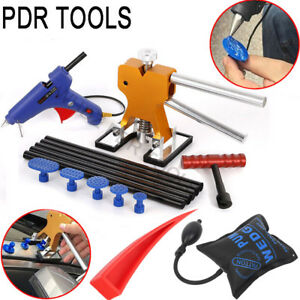 Pdr Paintless Dent Repair Removal Glue Tool Puller Dent Lifter Air Pump Wedge