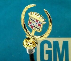 New 93 96 Cadillac Brougham 24k Gold Hood Ornament Emblem Nos Fleetwood Lock