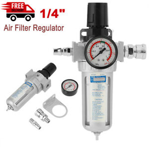 1 4 Aluminum Air Compressor Filter Water Separator Trap Tools With Regulator