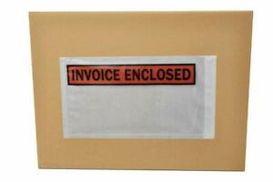 8000 5 5 X 10 Invoice Enclosed Packing List Slip Holders Envelopes Panel Face